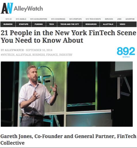 Gareth Jones listed as top people in fintech
