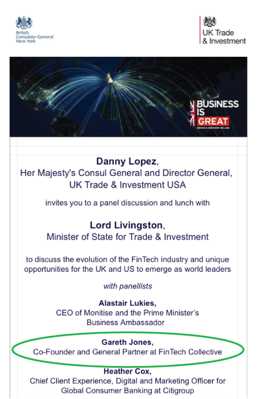 Gareth Jones on the UK Trade and Investment Panel 2014