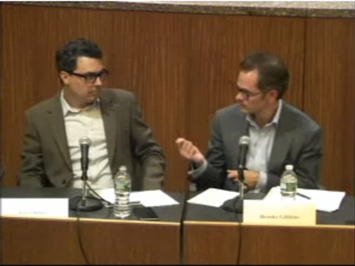 Gareth Jones on the panel on New York State regulation for Bitcoin