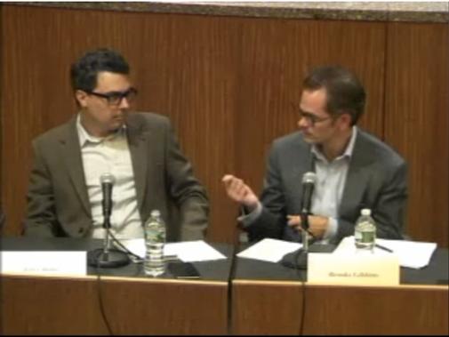 Gareth Jones on the panel on New York State regulation for Bitcoin