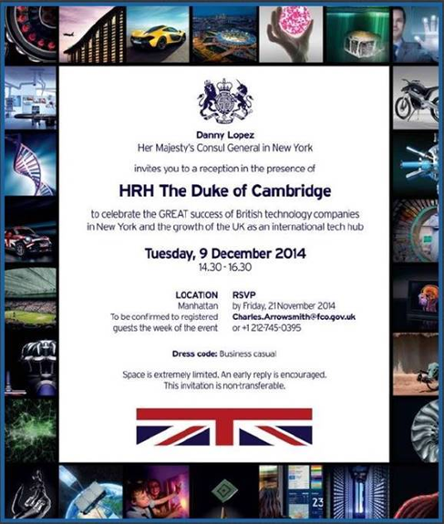 Gareth Jones invited by Her Majesty's Consul General in New York