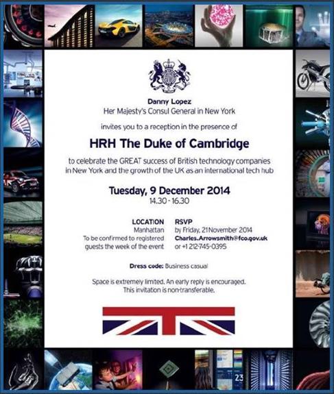 Gareth Jones invited by Her Majesty's Consul General in New York