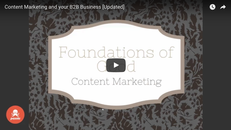 Passle webinar - Content Marketing and your B2B Business