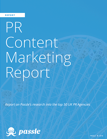 PR Agency Content Marketing Report from Passle