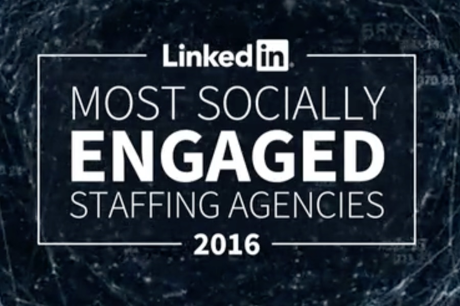 Pie Recruitment LinkedIn Most Socially Engaged Staffing Agencies 2016