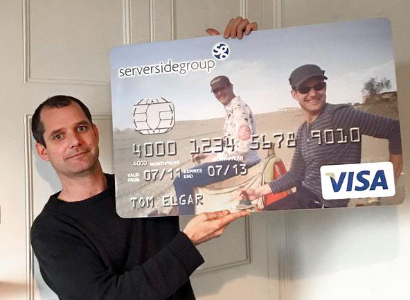 Tom Elgar presenting serverside credit card