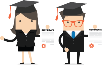 Clive and Clivette with Passle Accreditation certificates