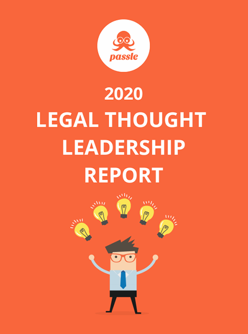 The cover of US Legal Thought Leadership Report 2020 by Passle