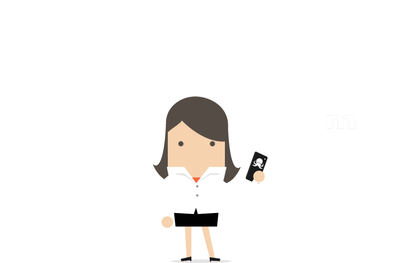 Businesswoman holding a device with Passle integrations map